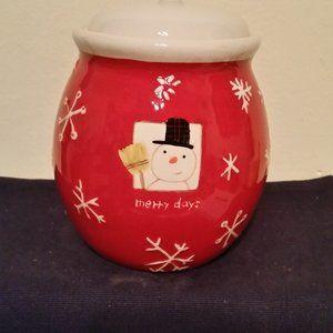 Hallmark snowman cookie jar vintage
